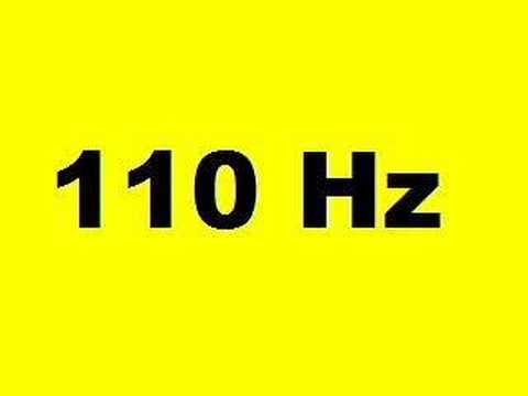 110 Hz (10 seconds of A)