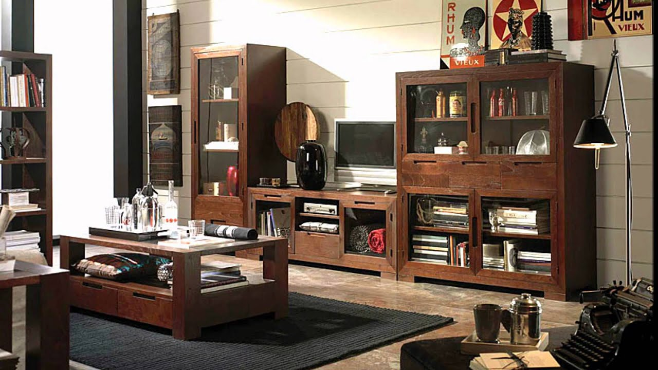Muebles coloniales en youtube - Salon colonial moderno ...