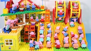 Peppa Pig Lego House Toys For Kids - Lego House With Water Slide Creations Toys #5