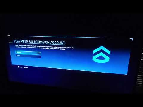 Play With An Activision Account Xbox Ps4 Pc Cod Mw Modern Warfare Error