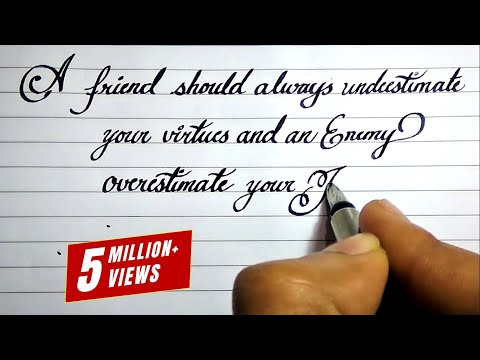 How to learn neat cursive handwriting