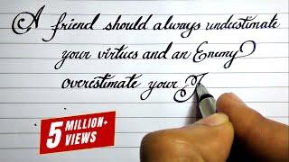 Beautiful English handwriting styles | English neat and clean cursive handwriting styles #14