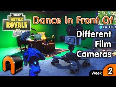 Dance In Front Of Different Film Cameras - Fortnite Camera Locations Week 2 Challenge