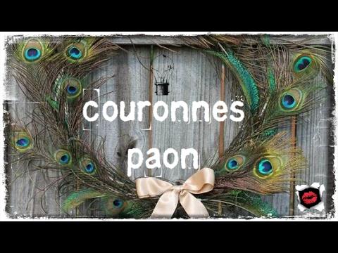 Les plus belles couronnes avec des plumes de paon