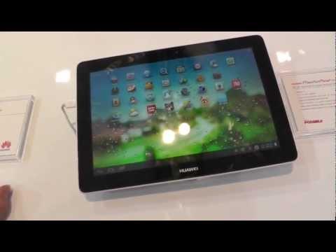 Huawei MediaPad 10 Link Kurztest auf dem MWC