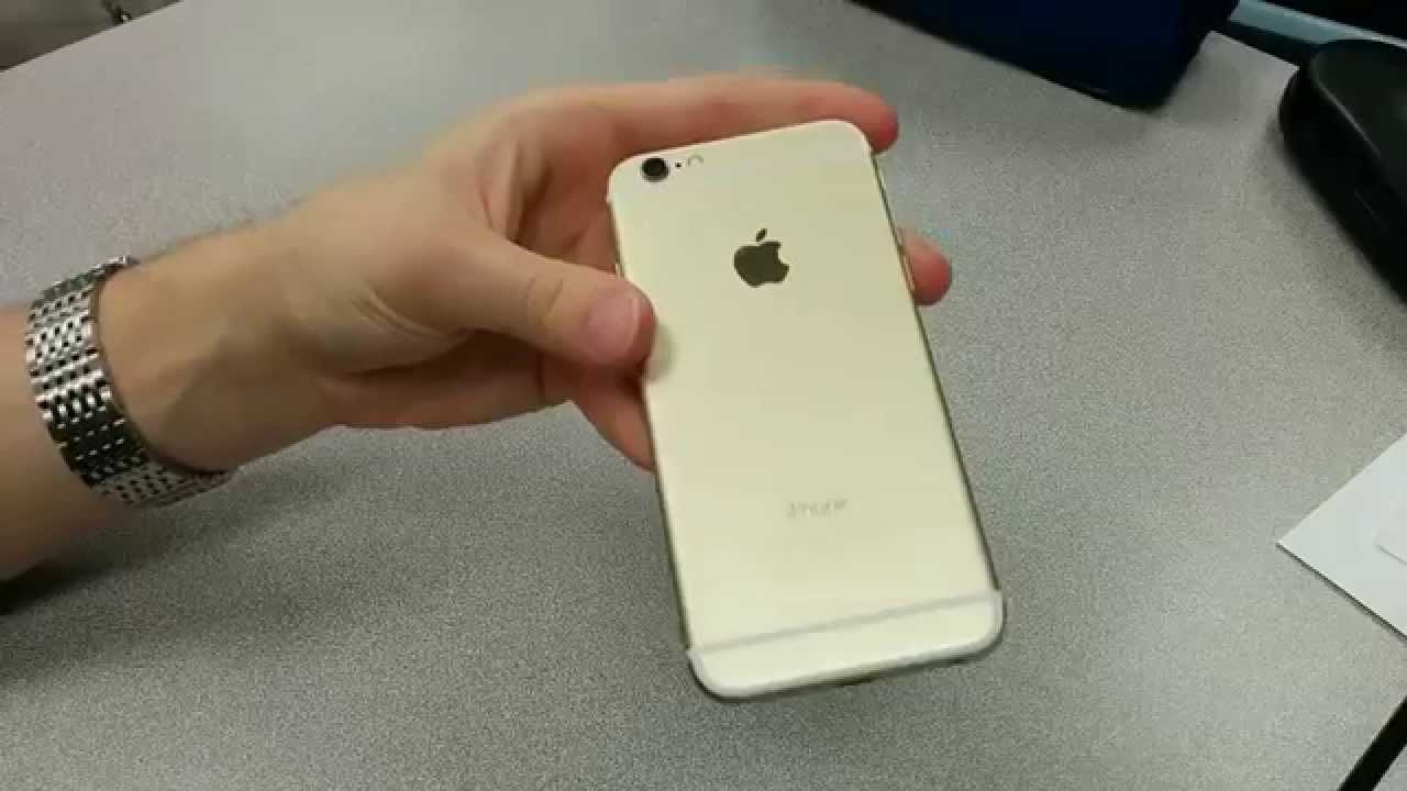NEW Gold IPhone 6 Quick Review