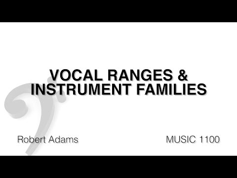 MUSC 1100 05 - Vocal Ranges and Instrument Families