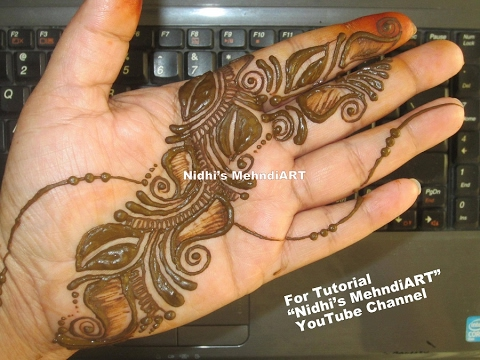 Mehndi Designs And S : Shaded arabic mehndi designs for hands tutorial easy diy henna