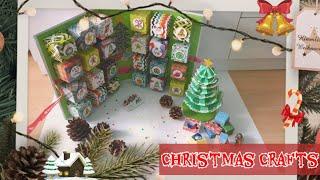DIY Christmas Crafts//Diy Christmas Calender//Diy Christmas Tree~ ?مفاجآت لعيد الميلاد رأس السنة