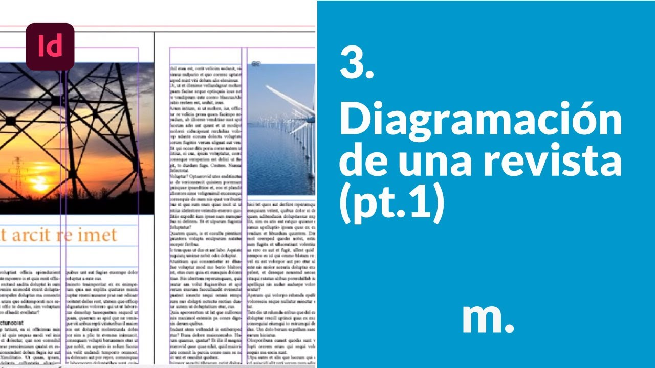 Diagramación de una revista en InDesign - Parte1 - YouTube