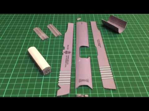 Papercraft 1911 papercraft full build time-lapse ( part 1/5 )