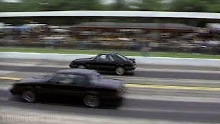 '80s Foxbody 5.0 Flashback - '85 Mustang GT vs '86 Turbo Buick GN (1987 Pure Stock Drags)