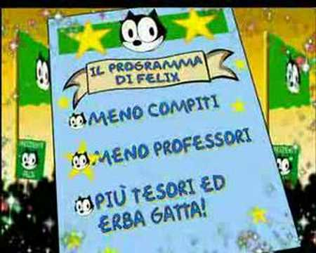 Boomerang Italy, Felix the cat for president