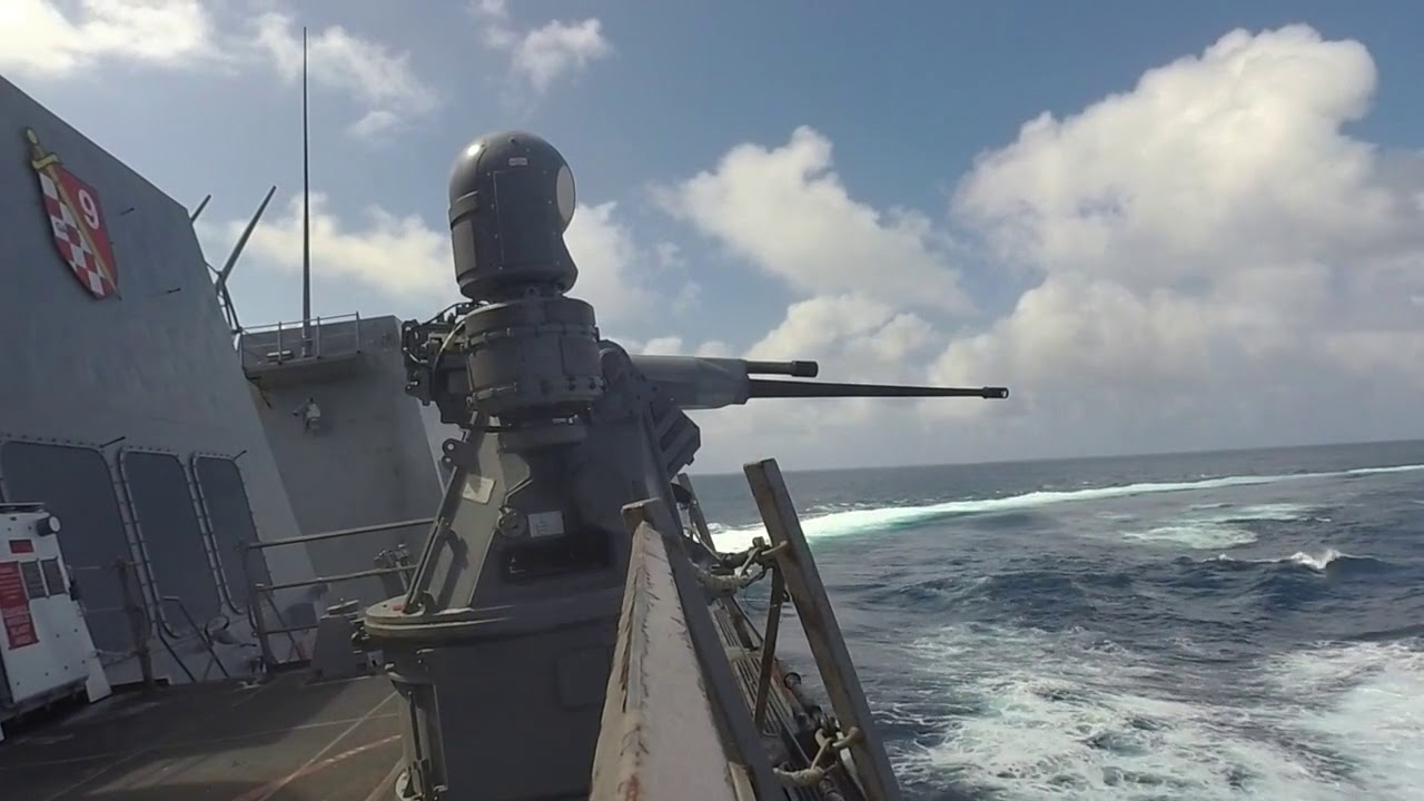 U.S Navy • Guided-Missile Destroyer • Mark 38 Machine Gun Live-Fire • Indian Ocean • Dec 30 – 2020