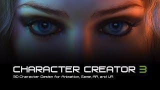 Character Creator 3 - 3D Character Design voor Animatie, Spel, AR en VR