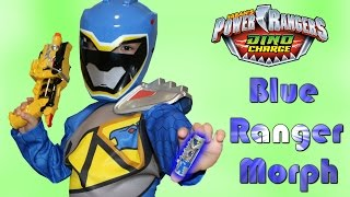 Power Rangers Dino Charge Blue Ranger Morph Fan Video With Ckn Toys