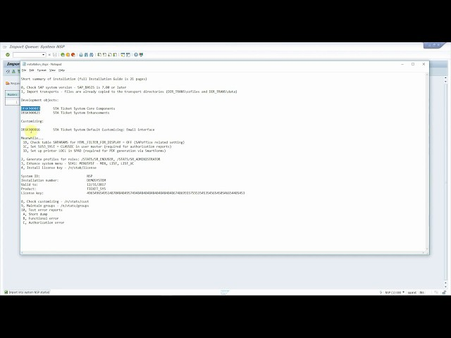 Ticket System for SAP - integration using emails - full Installation