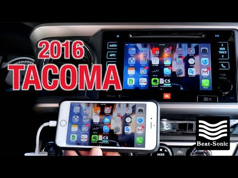 2014-2018 Toyota Tacoma iPhone Mirroring Adapter Beat-Sonic IF-02EP (Installation & Demonstration)