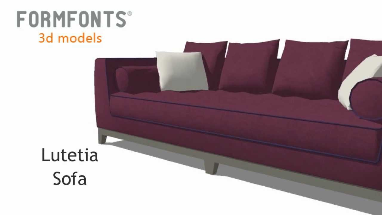 FormFonts 3D Model Lutetia Sofa By Maxalto   YouTube