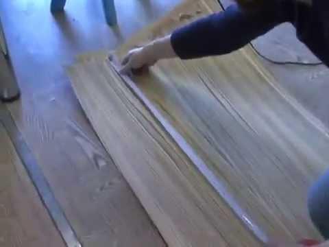 Фанерование филёнки с высокой фигареей в вакуумном мешке - YouTube