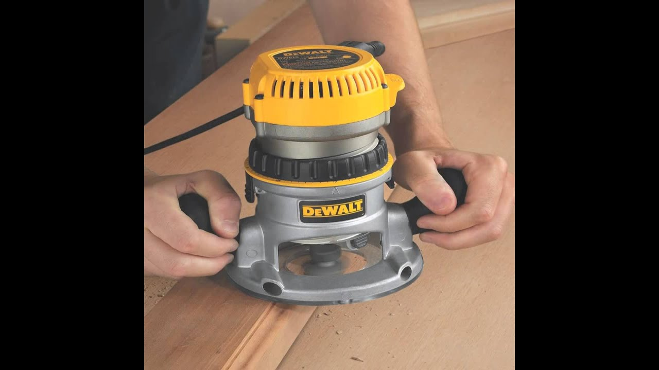 Dewalt dw618pkb 2 14 hp evs fixed baseplunge router combo kit with dewalt dw618pkb 2 14 hp evs fixed baseplunge router combo kit with soft sta youtube greentooth