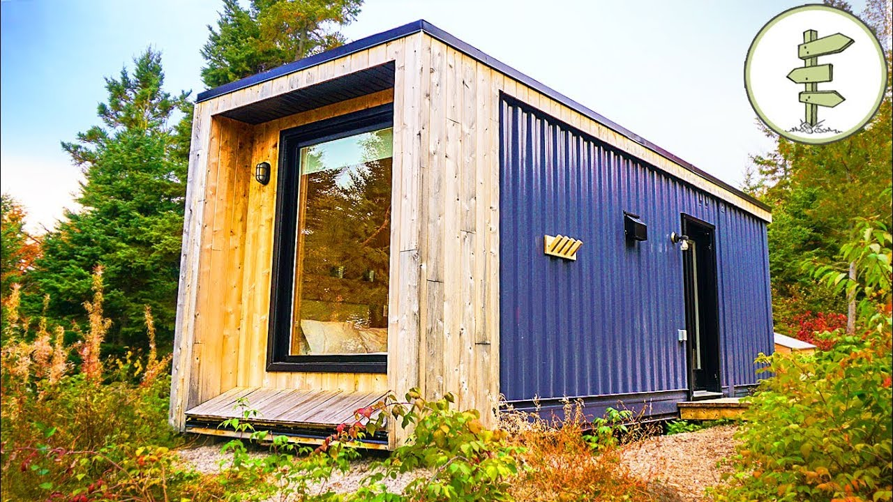 Container Haus Ebay Used Shipping Container Turned Into Minimalist Micro Cabin Full Tour In 4k