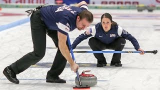 CURLING: USA-RUS WCF World Mixed Doubles Chp 2016 - Semi-final