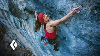 Babsi Zangerl climbs Sprengstoff (9a)
