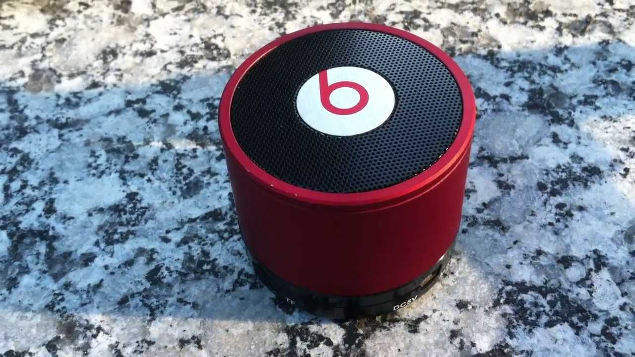 fake beats by dre mini bluetooth speaker is loud enough to move itself!! -  YouTube 820a06eae
