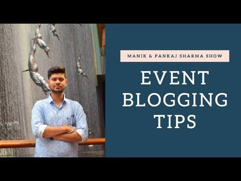 EVENT BLOGGING TIPS