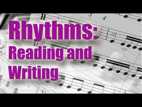 Learn To Read And Write Rhythms. Musical Figures Explained At Last