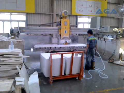 Bridge Saw Machine Cutting Granite