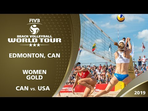 Women's Gold Medal: CAN vs. USA | 3* Edmonton (CAN) - 2019 FIVB Beach Volleyball World Tour