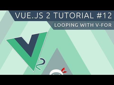 Vue JS 2 Tutorial #12 - Looping with v-for thumbnail