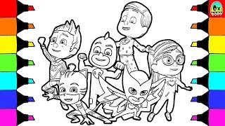 Coloring Pages Pj Masks colouring for children