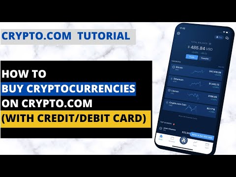 How To Buy Cryptocurrency On Crypto.com App (With Credit/Debit Card)