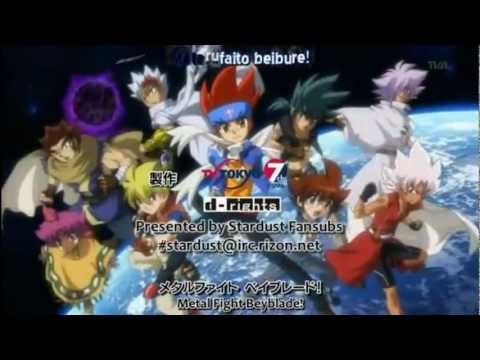 HD Beyblade Metal Fight 4D Opening Theme 2 - English Subbed!! and Japanese Lyrics!