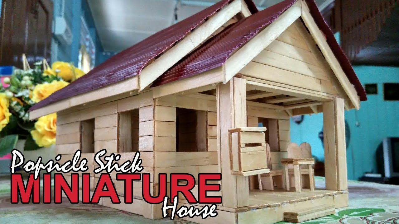 Popsicle Stick Miniature House Custom Made