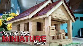 Popsicle Stick Miniature House // Custom Made
