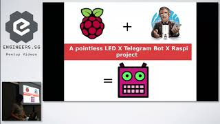 A pointless Raspi X LED X Telegram bot project - Junior Developers Singapore