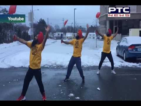 These bhangra dancers know how to deal with Canadian winters
