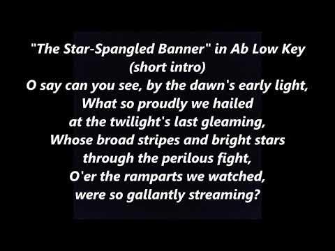 NATIONAL ANTHEM Karaoke Low Ab instrumental backing tracks trax  LYRICS WORDS Star-Spangled Banner