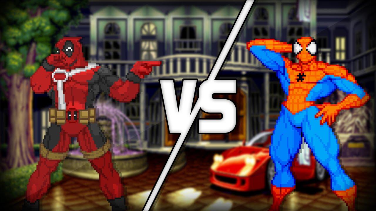 Spider Man Vs Deadpool Sprites Battle Part 1 Youtube