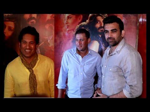 Sachin Tendulkar, Zaheer Khan & Ajit Agarkar at screening of MIRZYA movie. || YOYO TV Hindi