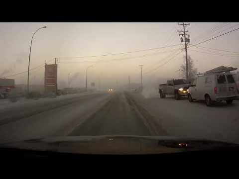 Yellowknife NWT Canada - Extreme cold December 13, 2013 HD