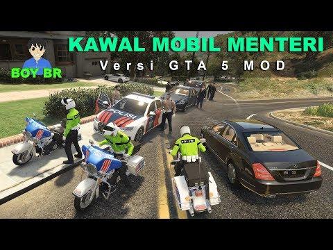 KAWAL MOBIL MENTERI Versi GTA V - GTA 5 MOD INDONESIA