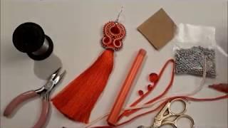 Сутажные серьги - мастер класс /Soutache earrings