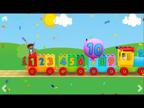 LEGO Мультик для детей - Учим цифры от 1 до 10 на Английском языке / мультики для детей