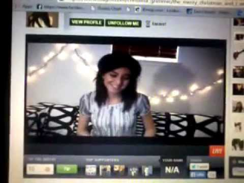 Christina Grimmie live on Stageit \