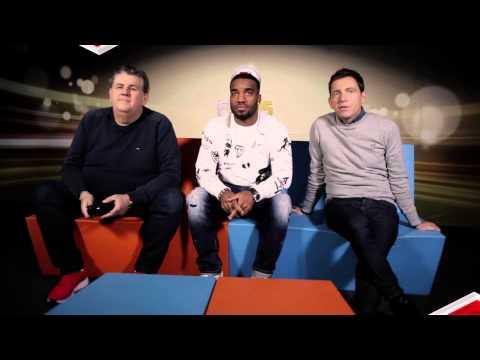 FUT 15 - Alexandre Lacazette commente l'équipe de France anglaise de Pierre Ménès et Daniel Riolo